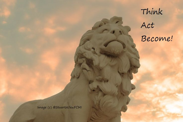 Inspirational? INSPIRATI'LION' One of the Lions guarding Westminster Bridge, London! With added quote :)
