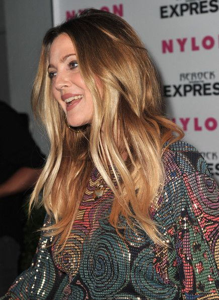 Drew Barrymore Hair Color Amber Honey Warm Ombre