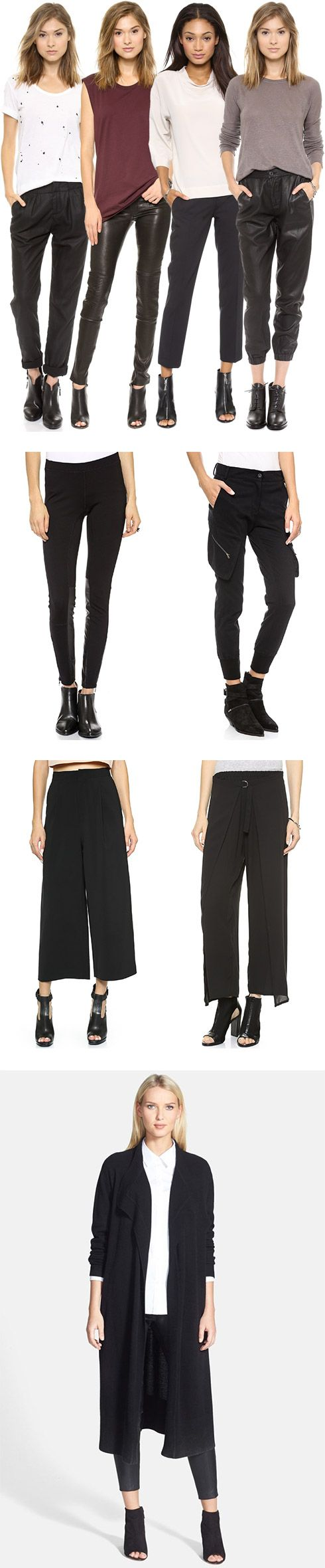 Pair Black Ankle Pants with Black Booties - YLF At ankle bone or 4-6 inches above ankle bone for most flattering look