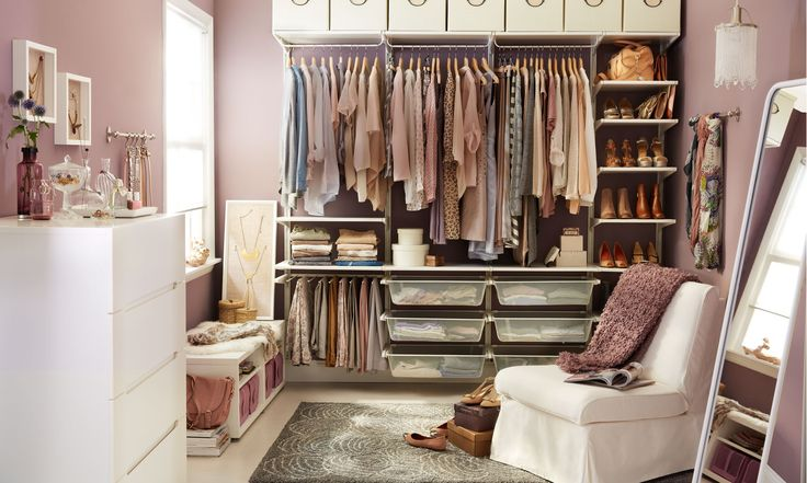 Have the organized closet of your dreams with the ALGOT storage system - affordable and endlessly adaptable to your needs.: