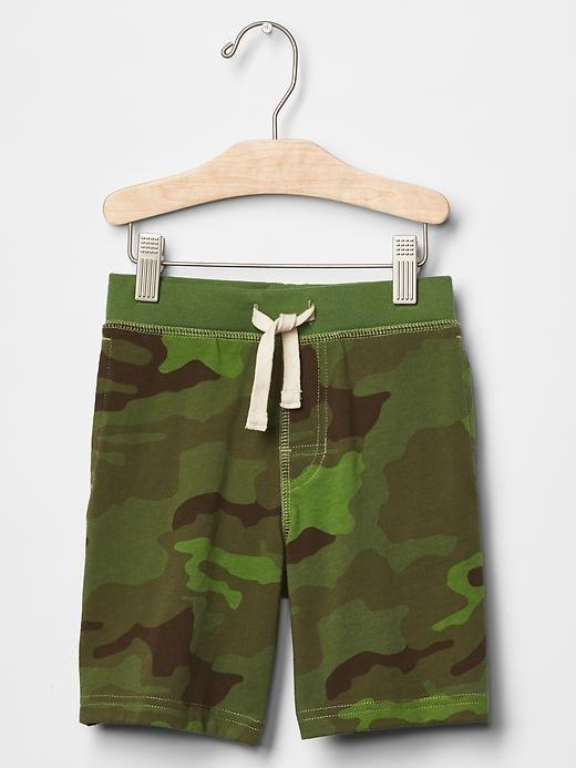 Camo pull-on shorts   Gap