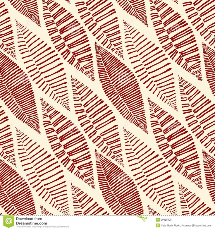 This would make a great fabric - inspiration - Seamless Tribal Pattern Leaves Skeleton - Stock Photo