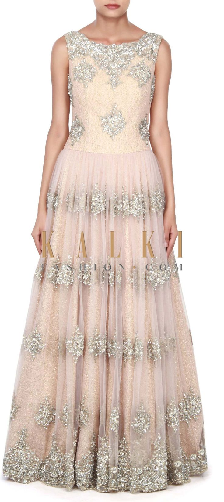 Buy this Featuring sequin and kundan embroidery gown only on Kalki
