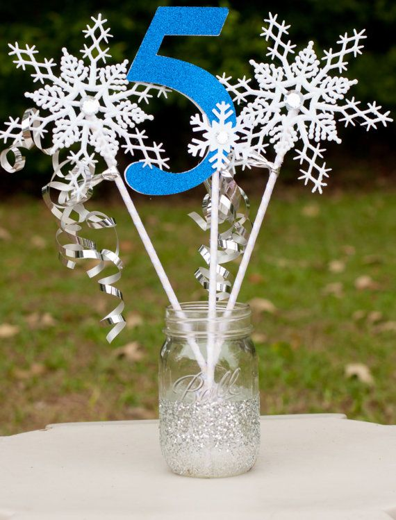 This listing is for a custom glittery frozen inspired for Glitter numbers for centerpieces