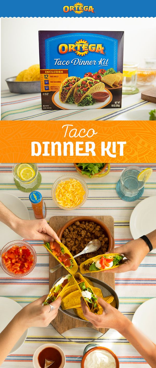 Ortega Taco Dinner Kits are here to save the day - or at least, your dinner. With enough Ortega Taco Shells, Taco Sauce, and Taco Seasoning to make 12 tacos, it's perfect for feeding a family of 4! Perfect for using leftover turkey or any other protein. Talk about an easy dinner hack!
