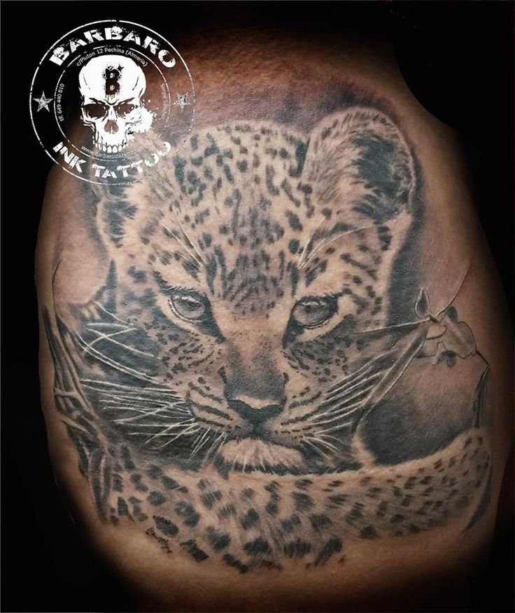 #tattoo #tattooist #tattooed #bestspaintattooartist #blackandgreytattoo #leopardtattoo
