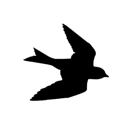 CLEARANCE Silhouette Swallow in Flight Rubber Stamp Large Bird Unmounted. $14.99, via Etsy.