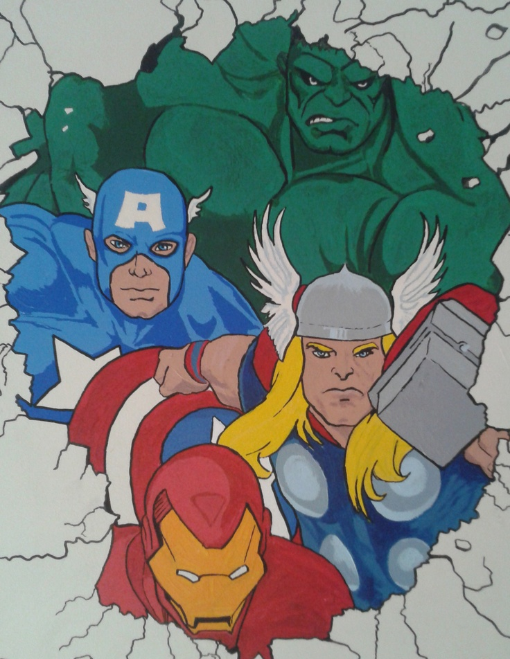 Avengers wall mural designs pinterest avengers for Ash wallpaper mural