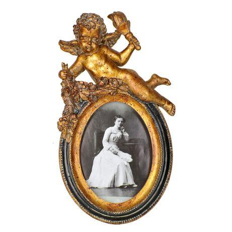 Фотография: Гостиная, Предметы декора, Картины и рамки, Фото Рамка для фотографий мини с ангелом  на InMyRoom.ru