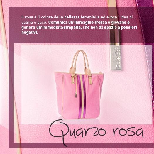Rosa è il colore della bellezza e della femminilità: scegliete una borsa rosa per comunicare immediata simpatia!  http://www.caleidostore.it/it/borse-grandi/121-quarzo-rosa-verticale.html