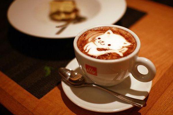 Cat coffee art! :)(:: Coffe Time, Kitty Cat, Latte Art, Cups Of Coffe, Coffeeart, Coffe Art, Kittens, Coffee Art, Latteart