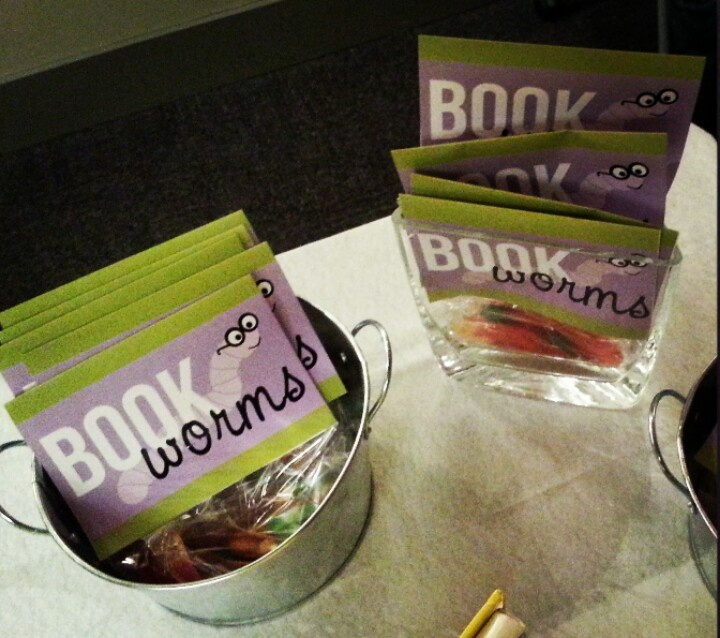 Bookworm birthday party - party favors