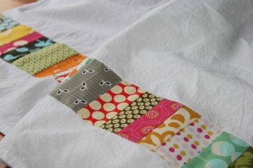 DIY Patchwork Dish Towels - cute housewarming or shower gift!