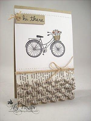 Cute bicycle card.
