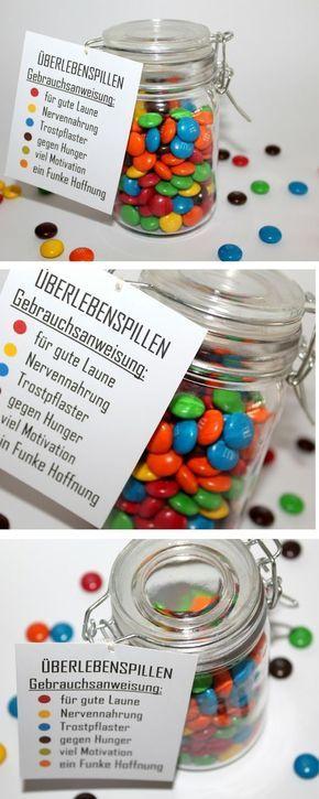 Die perfekte Geschenkidee zu jedem Anlass: DIY Einmachglas Überlebenspillen + {mit gratis Printable}