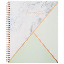 Large Spiral Notebook - Geo Mint
