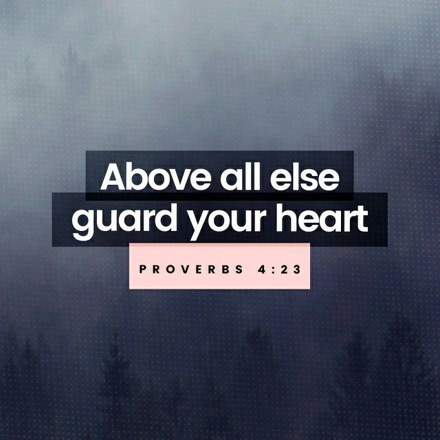 Guard your heart above all else, for it determines the course of your life. Proverbs 4:23 NLT http://bible.com/116/pro.4.23.NLT