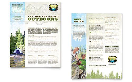 Nature Camping Hiking Sales Sheet Template Design Sample – Sample Sales Sheet