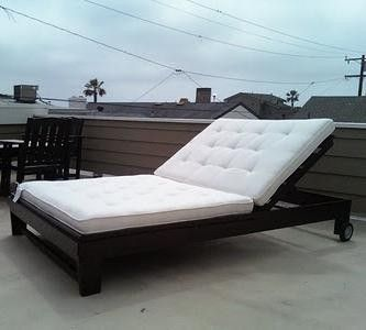 25 best ideas about homemade outdoor furniture on for Build chaise lounge