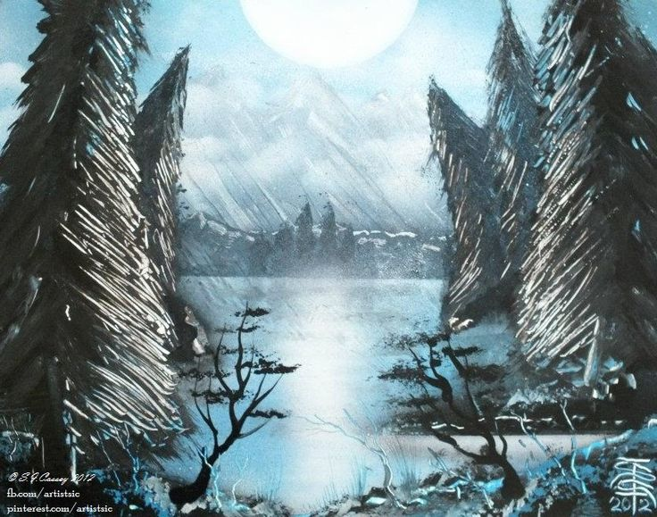 """Cold Sun"". Spray paint art (on 11"" x 14"" card). 2012"