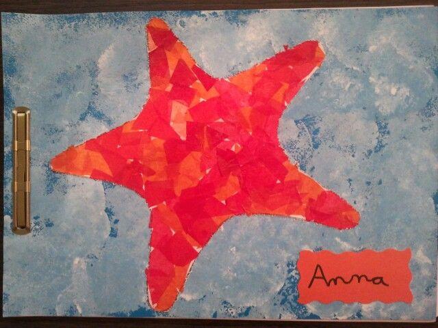 tapa estrella d la mar feta amb paper d seda