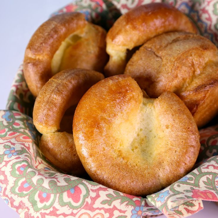 Yorkshire Puddings by Curtis Stone after filling muffin tins put the rest in a small non stick frying pan to make a large pudding