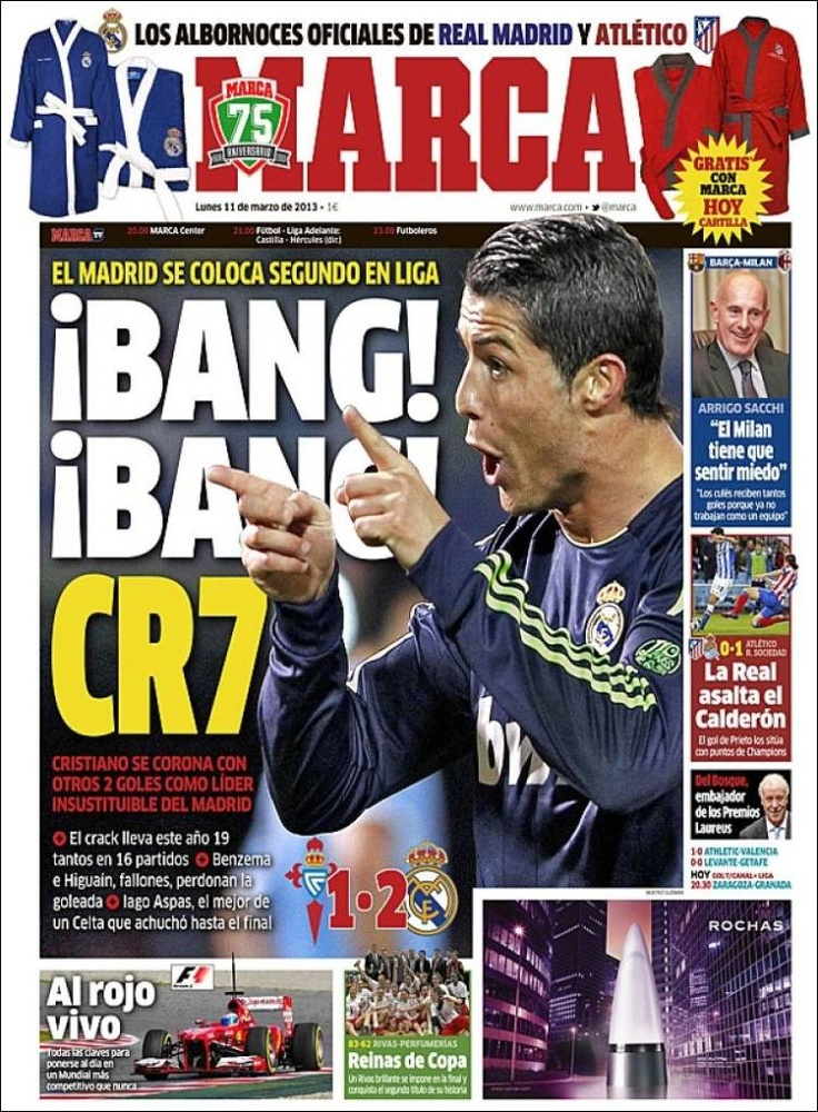 Los Titulares y Portadas de Noticias Destacadas Españolas del 11 de Marzo de 2013 del Diario Deportivo Marca ¿Que le pareció esta Portada de este Diario Español?
