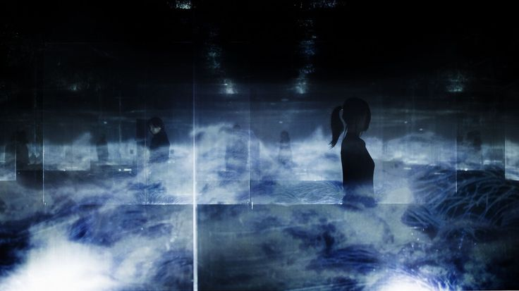 Black Waves in Infinity | teamLab / チームラボ
