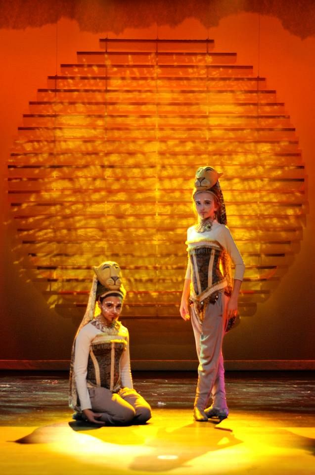 Coal City High School production of 'The Lion King' using fabrics from Textile…
