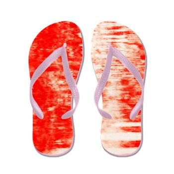 Red Sunrise Flip Flops