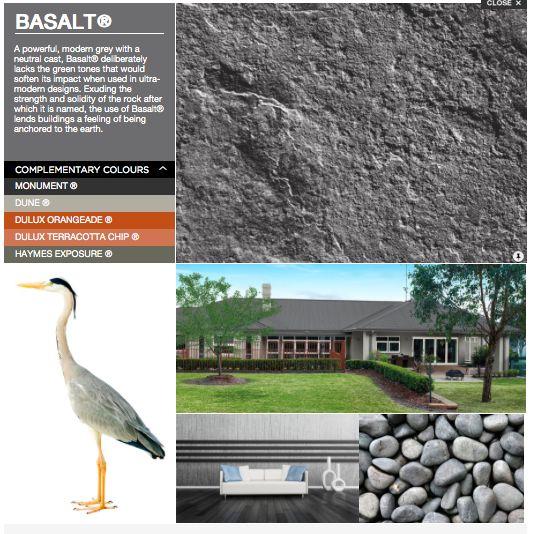 Colorbond Basalt Colour Pallet Roof Trend On Top Pinterest