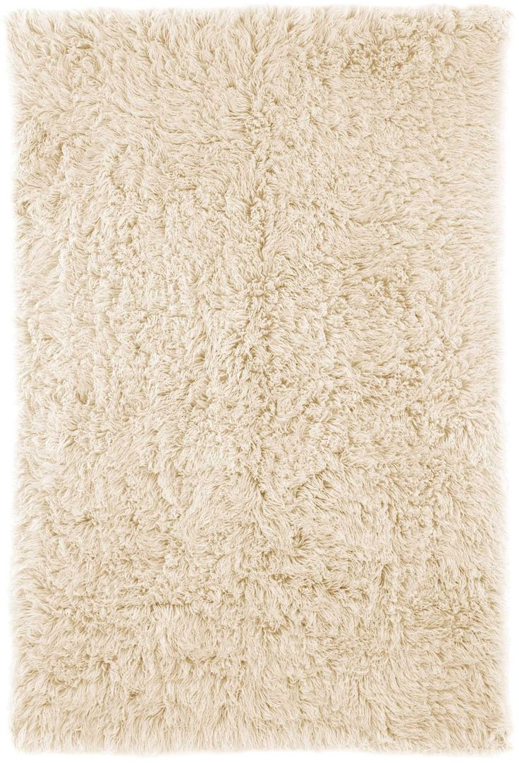 Hand Woven Genuine Greek Flokati Rug in Natural design by Nuloom