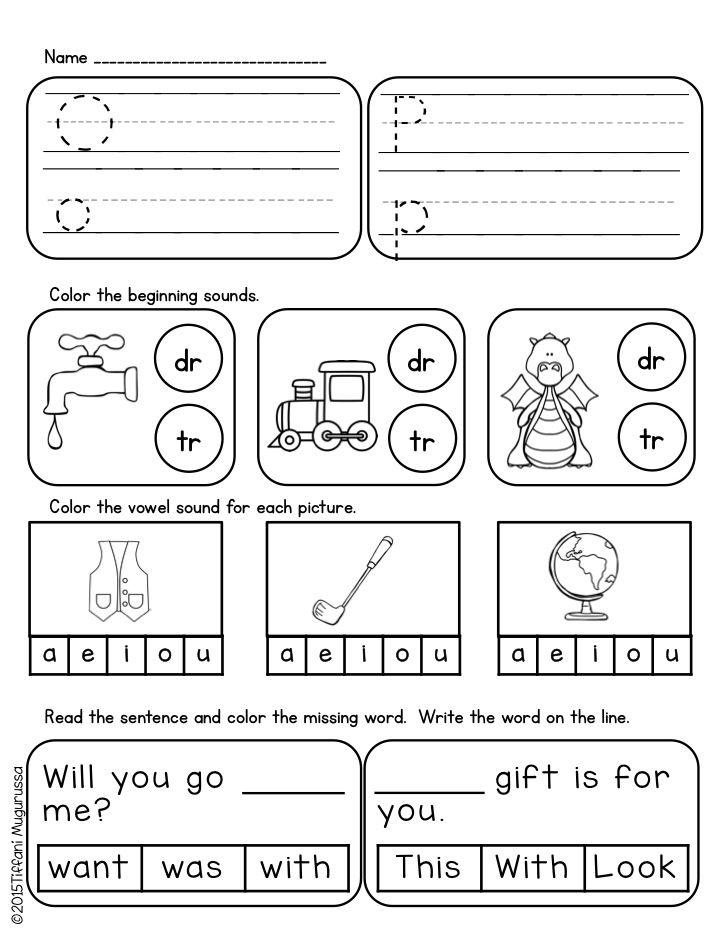 Kindergarten homework Kindergarten Morningwork 40 pages of ELA and Math Great for early finishers too
