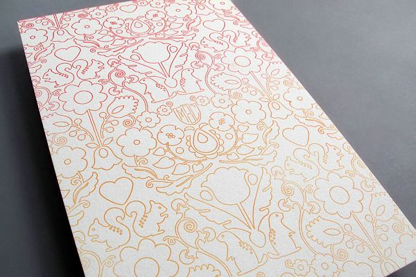 Oh So Beautiful Paper: Charles + Merrill's Ombre Letterpress Wedding Invitations