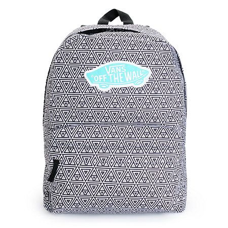 This mid-size backpack is made with a geo print canvas exterior, and comes equip with plenty of pocket space perfect for keeping you organized in style.