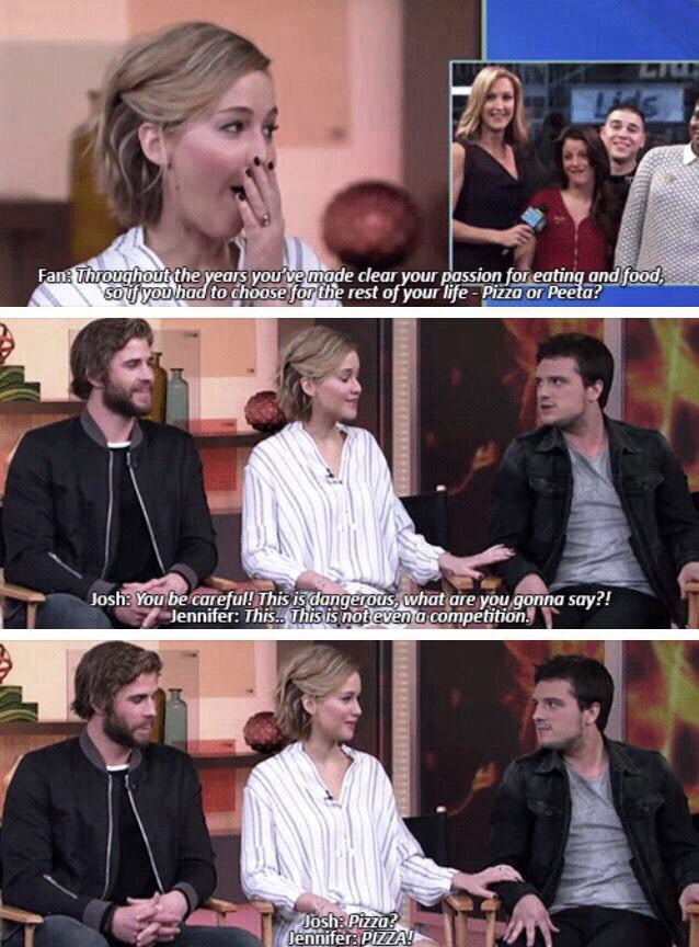 Pizza, it's always pizza. Never change Jen.