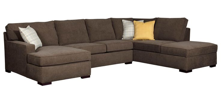Raphael three piece sectional sofa by broyhill furniture for Broyhill chaise