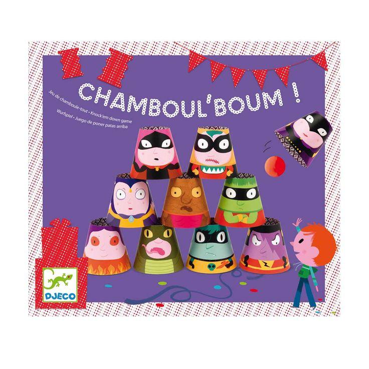 Un jeu de chamboul'tout où de drôles de bonhommes sont à dégommer. Un jeu indispensable pour organiser une fête à la maison !