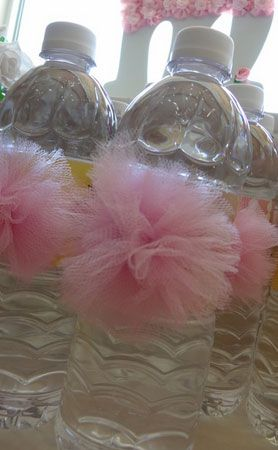 Click Pic for 28 Baby Shower Ideas for Girls - Pink TuTu Water Bottles | Baby Shower Themes for Girls