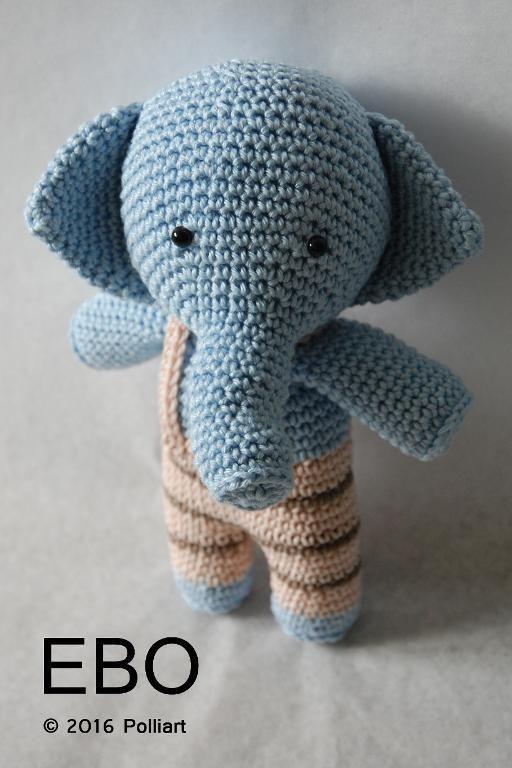(4) Name: 'Crocheting : EBO The Elephant Amigurumi Pattern