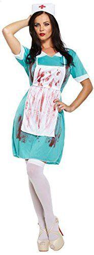 Damen Sexy Zombie Krankenschwester Kostüm ca 9€| Kostüm-Idee zu Karneval, Halloween & Fasching