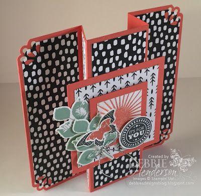 Debbie's Designs: Triple Panel Standing Card Fold!