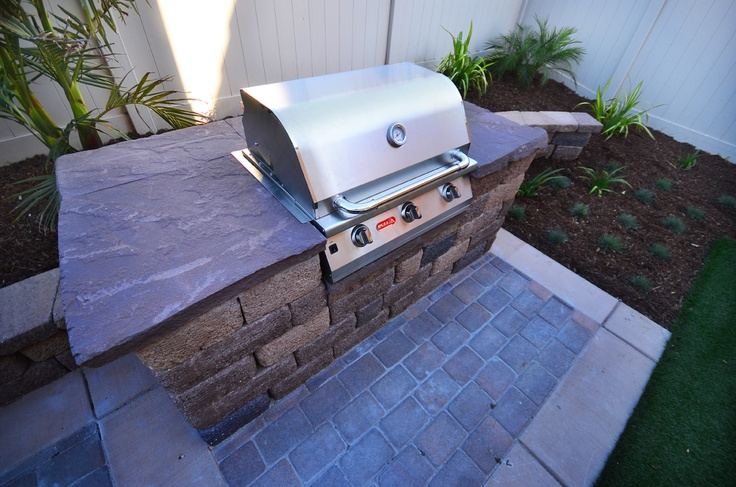 Outdoor Kitchen Bbq Area Pavers Patios Tropical Built