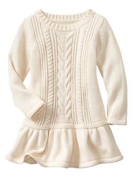 Cable Knit Dress Gap Baby Kids Style Toddler Sweater