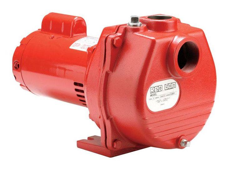 Red Lion RLSP-200 Cast Iron Sprinkler Pump, Red, 2 HP