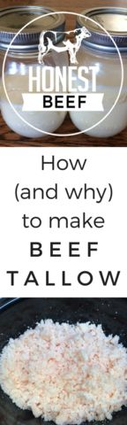 How (and why) to make beef tallow. Tallow should be used over vegetable oils for frying because it is more stable at high temperatures, meaning it doesn't oxidize and release free radicals, which are harmful for our cells and tissues, and have been linked to cancer. Real food, right here!