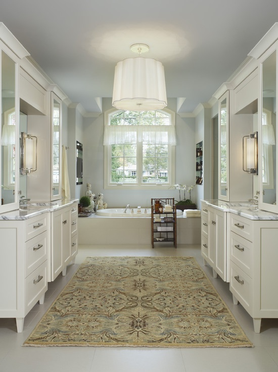 Love The Idea Of An Area Rug In A Large Bathroom Of Course You Wouldn