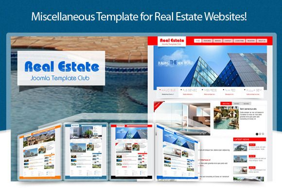 SJ Real Estate template is available for everyone. The template used content component and suit real estate companies, agents for leasing, rentals or appraising property. With easy modifiable design, you can customized the template for your purpose.