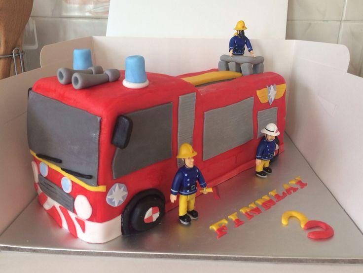 Fireman Sam cake I made