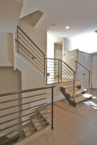 Best Chicago Modern Railings Staircase Design Chicago Custom 400 x 300